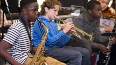 BCMG run a number of in-school projects, credit Adrian Burrows