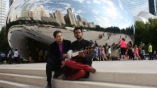 Composer Param Via and Soumik Datta in Chicago